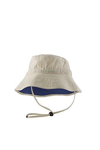 Coolibar Jungen Chin Strap Sonnenhut UV-Schutz 50, Beige, 2-3 Jahr