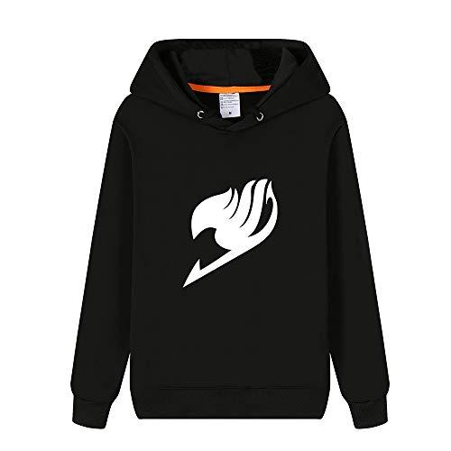 BESTHOO Fairy Tail Print Sweater Verdickung Plus Samt Hoodie Stilvolle Pullover Hoodies Pullover Sport Mantel für Männer und Frauen Langarmshirts Mit Kapuze
