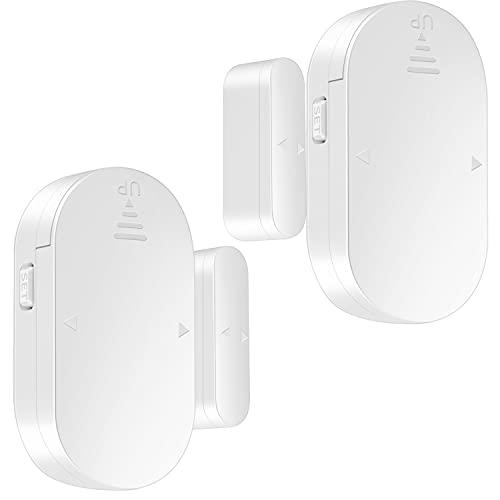 YisTech Freezer Door Alarm with Left Open,80~130dB Fridge Door Alarm Reminders, Door Window Alert with 5 Working Modes 3 Volume Levels Magnetic Entry Sensor Alert for Home Kids Safety