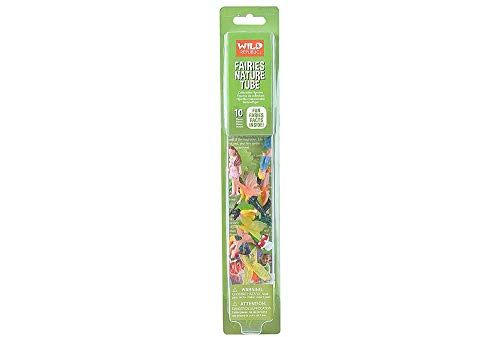 Wild Republic Fairy Figurines Tube, Fairy Toys, Ten Fairy Figures with Five Different Poses All with Different Hair and Outfit Colors