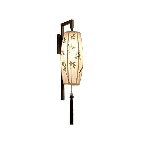 Wmdtr Lámpara de Pared de Tela Simple Retra de Tela, Luces de Pared de decoración de Hardware LED E27 Linterna Design Wall Aplicaciones para el Proyecto Hotel PROYECT Aisle Villa