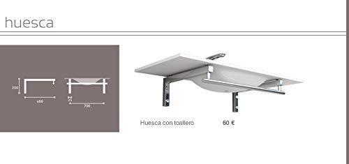 Wand-Konsole-Waschtisch-Halterung-Waschbecken Träger Regalhalter Wandhalterung Handtuchhalter aus Messing Konsolenhalterung SET (BxL) 460 x 700 mm (Halterung Huesca) von Art of Baan®