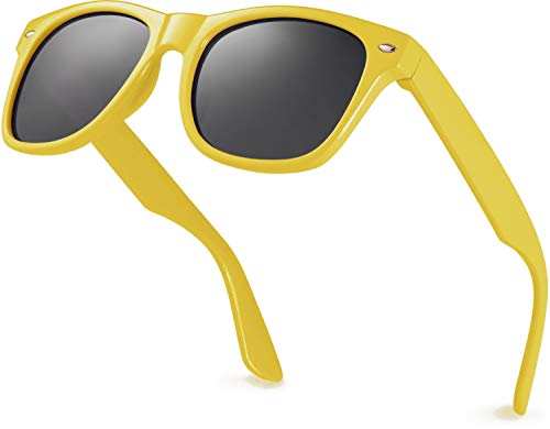 Retro Rewind Iconic Kids Sunglasses for Boys Girls - Shatterproof UV400 Children Sunglasses for Toddlers and Little Kids Age 2-10