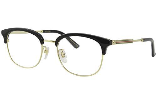 Gucci Brille (GG-0590-OK 001) Acetate Kunststoff - Metall schwarz glänzend - gold