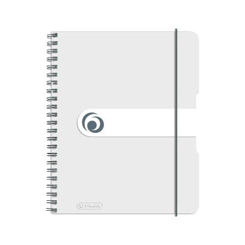Herlitz 11293792 Spiralblock A5 to go, 2-er Packung, Holzfreies Papier, 80 Blatt, transparent