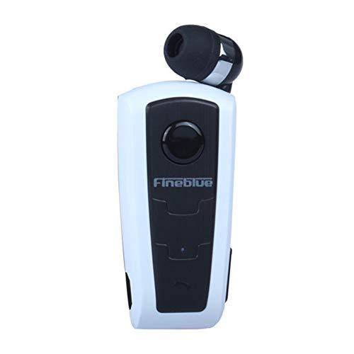 Auriculares Bluetooth inalámbricos originales F910 FineBlue In-ear V4.0 Headset aviso de vibración Wear Clip manos libres para Smartphone Bianco