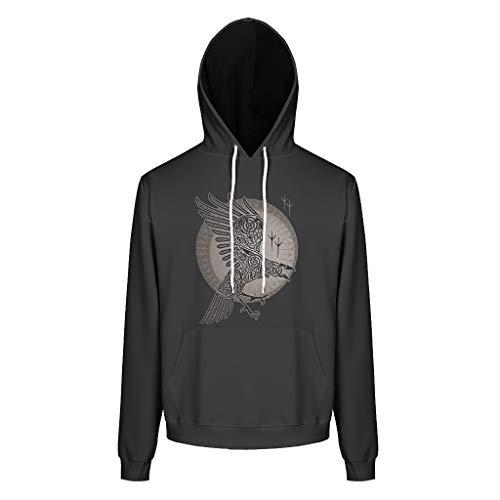 BOBONC adelaar 3D print heren hoodie sweatshirts lange mouwen grappig comfortabele trui met capuchon S-5XL