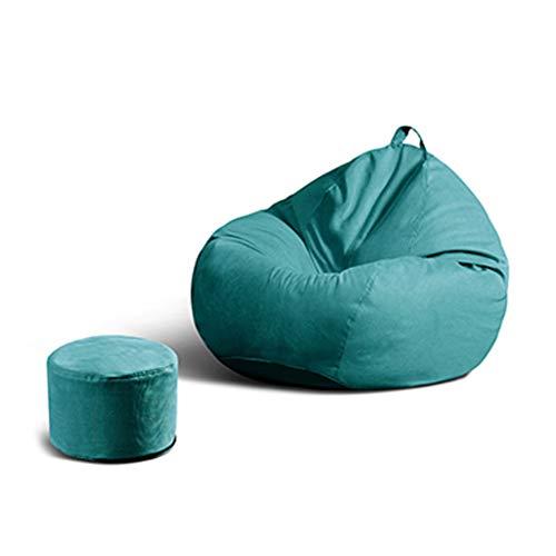 SD Bean Bag Chaise/Pouf Poire/canapé/Grande Fauteuil/avec Mousse Ultra Confortable/A des Poches Latérales/Convient pour Intérieur Et Extérieur/110 * 130 cm