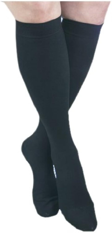 ITAMED I H304(2) S BL Microfiber Knee Highs, Black, Small