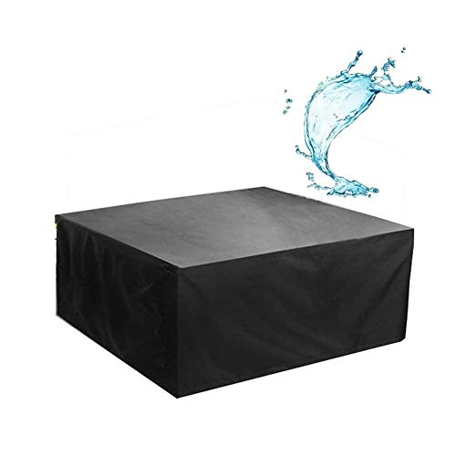 NINGWXQ Garden Furniture Cover Waterproof Oxford winddicht Dust-proof Rechthoekige meubilair, 28 Maten (Color : Black, Size : 300X100X150cm)