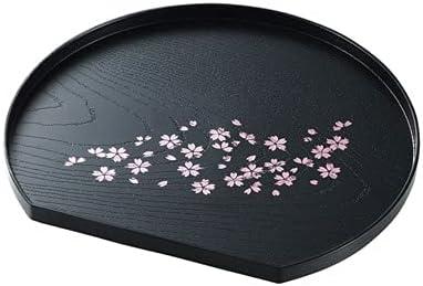 Cherry Blossom NEW Pattern Tea Serving Tray Shaped Ranking TOP3 Moon x Half 8.8
