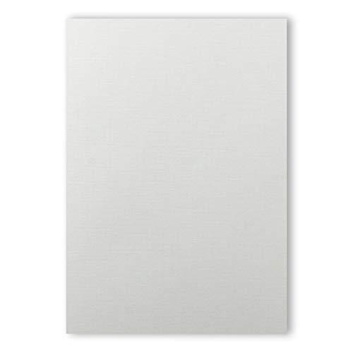 100 Stück - Zeta Leinen - Feinstpapier hadernhaltiges Papier mit Leinen-Struktur DIN A4 für hochwertige Dokumente Grammatur: 100 g/m²