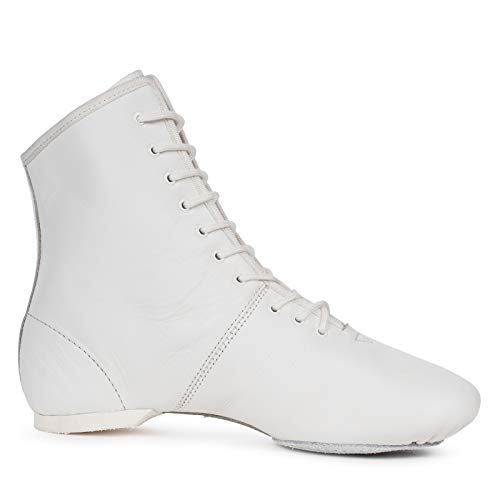 Kostov Sportswear Tanzstiefel Profi (aus Leder, Geteilte und gleitfähige Chromledersohle, turniertauglich) weiß, Gr.38