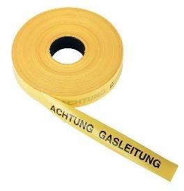 Triuso Trassenband Warnband Trassenwarnband Einlegeband Grabenband Sicherheitsband Sicherungsband 40mm x 250m