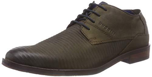 Bugatti 3.11528E+11, Zapatos de Cordones Derby Hombre, Verde (Dark Green 7100), 40 EU
