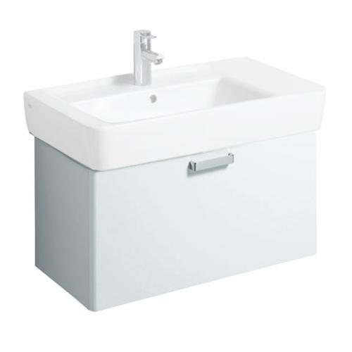 Keramag Waschbeckenunterschrank Renova Nr. 1 Plan 879130, 68x46,3cm x35cm Weiß/Weiß Hochglanz 879130