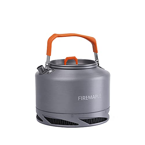 Fire-Maple 1,3L Hervidor de Agua Camping Portátil de Aluminio Ultraligero para Acampar para Tetera, Cafetera de Picnic