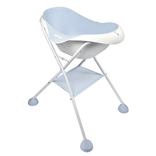 Beaba - Soporte de pie para bañera con cámara de bebé y cambiador camé'O, plegable, desmontable, estable, Light Mist