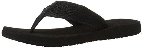 Reef Women's Sandy Flip-Flop, Black/Black, 9