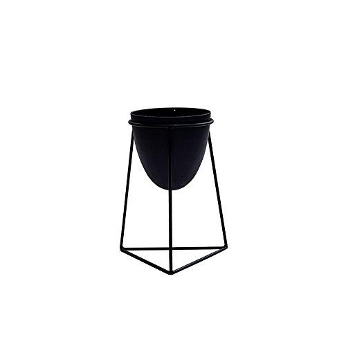 Étagères à Fleurs polyvalentes Métal Vase Cadre Noir Fer Fleur Vase Cadre Plante Fleur Stand Intérieur Café Maison Décoration pour intérieur et extérieur (Couleur : Noir, Taille : 36cm)