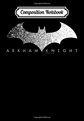 Composition Notebook: Batman Arkham Knight Pixel Logo, Journal 6 x 9, 100 Page Blank Lined Paperback Journal/Notebook