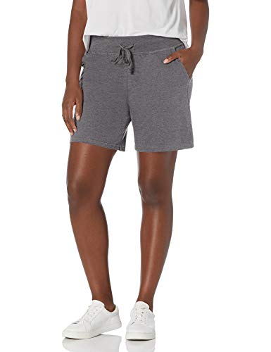 Hanes Women's Jersey Short, Charcoal Heather, X-Large