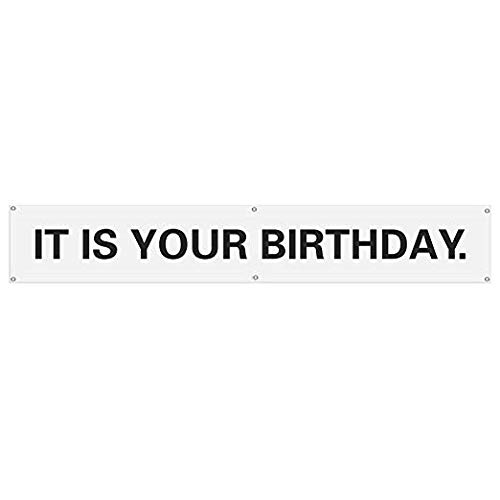 It is Your Birthday. Banner The Office Vinyl Party Banner with Metal Hanging Rings