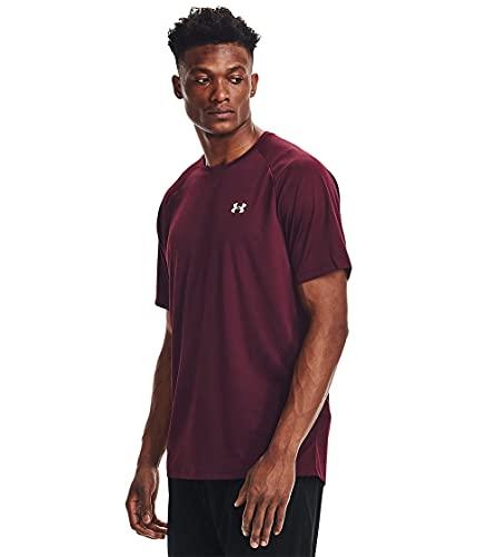 Under Armour Tech 2.0 Short Sleeve T-Shirt, Marrone Scuro/Bianco (602), XL Uomo