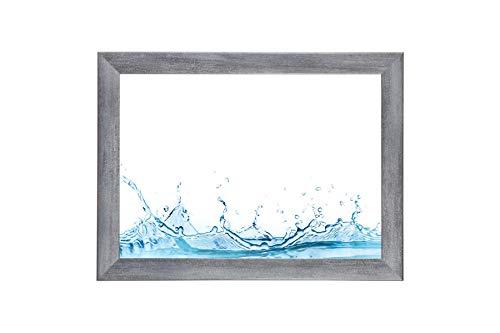 ByMoris-A+ 42x59 cm Bilderrahmen in Grau gewischt mit Antireflex-Acrylglas
