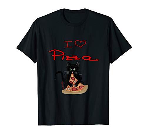 Pizza Cat, Die Pizza futternde Katze T-Shirt