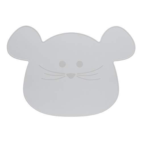 LÄSSIG Kinder Tischset Platzdeckchen aus Silikon/Little Chums Mouse grey