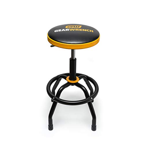GEARWRENCH Adjustable Height Swivel Shop Stool 26' to 31' - 86992