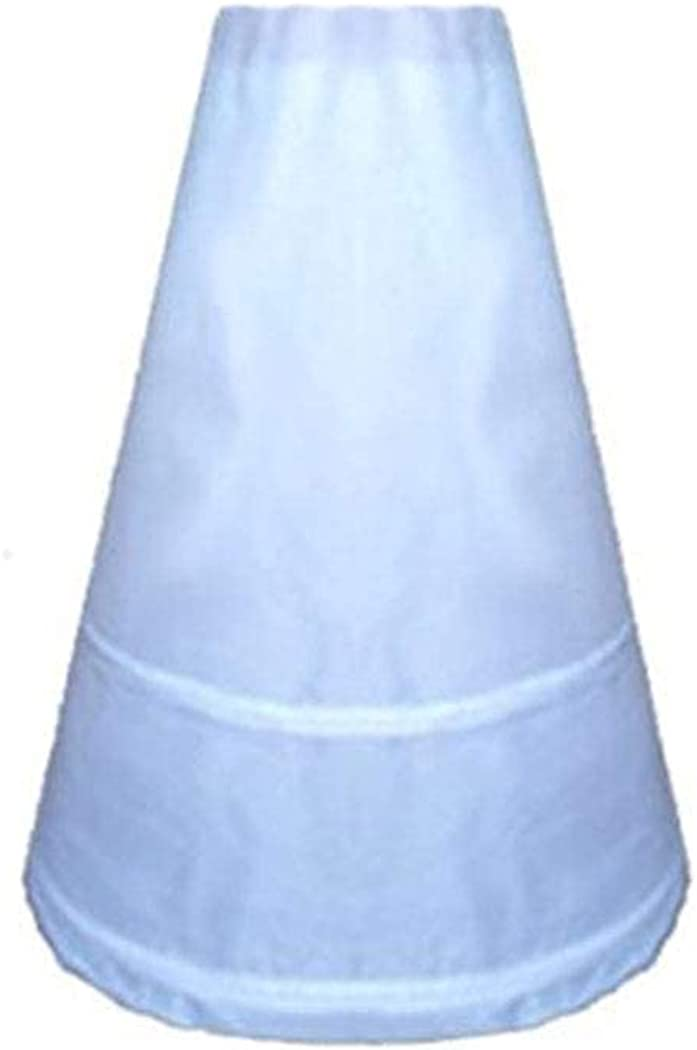 Adjustable 2-Hoop A-Line Bridal Petticoat Slip 6 7 8 9 10 years old Kid Girl Children Bone Underskirt Wasit 17 inch to 24inch White…