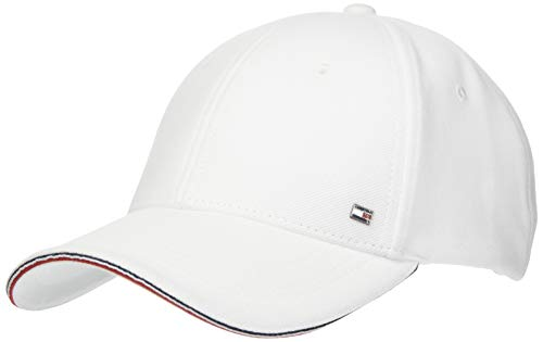 Tommy Hilfiger Elevated Corporate Cap Chapeau, Th Optic White, Taille Unique Homme