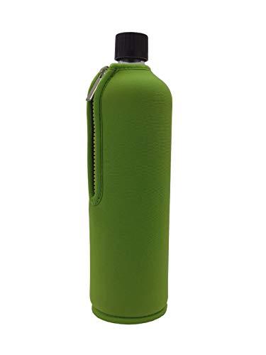 Dora´s Glasflasche mit Neoprenüberzug 700ml (grün)