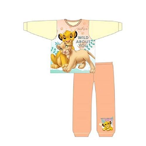 Conjunto de pijama de rey león para niñas (Wild About You) crema
