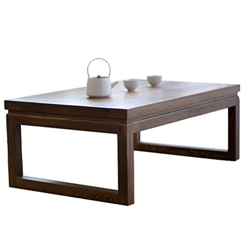 Chi Cheng Fang Electronic business Tatami Coffee Table Solid Wood Bay Window Table Small Coffee Table Japanese Low Table Computer Desk (Color : Brown, Size : 60 * 40 * 30cm)