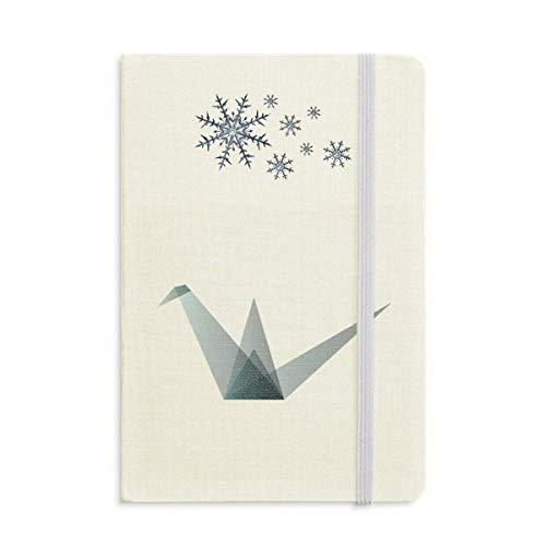 Cuaderno de forma geométrica de Origami Abstracto Grúa Grueso Diario copos de nieve Invierno