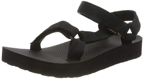 Teva Women's MIDFORM Universal Wedge Sandal, Black, 08 Medium US