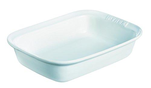 Pyrex Impressions Teglia Rettangolare, Ceramica, Bianco, 26 cm