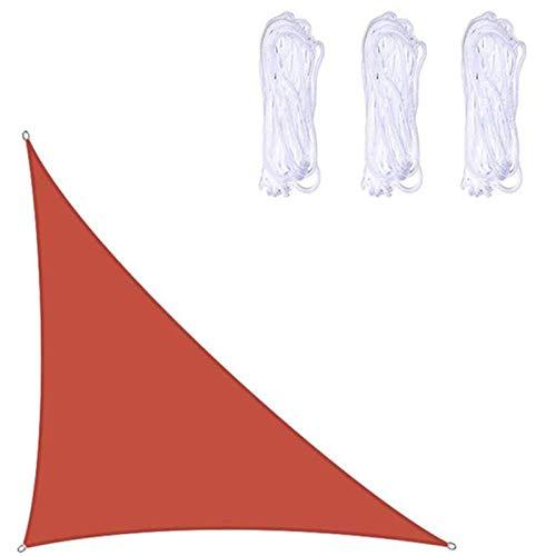 Velas de sombra Triángulo Derecho Vela De Sombra Impermeable Para Jardín Al Aire Libre Patio 95% UV Con Cuerda Protección Solar Vela Protector Solar Toldo Toldo Azul Cl(Color:rojo,Size:4*4*5.7m)
