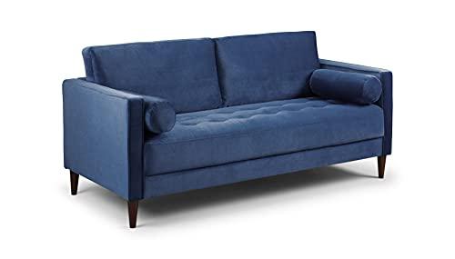 Honeypot - Harper - Sofa - 4 Seater - 3 Seater - 2 Seater - Armchair - Blue - Beige - Plush Grey - Green - Plush Velvet (3 Seater, Blue)