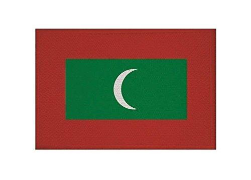 U24 Aufnäher Malediven Fahne Flagge Aufbügler Patch 9 x 6 cm