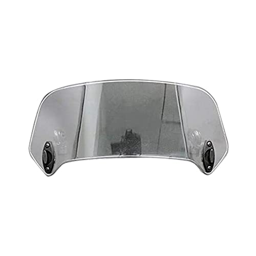 SHIJIE Cat and Mouse Motocicleta Universal Spoiler Spoiler Windseren Deflector con Clip Ajustable Gris