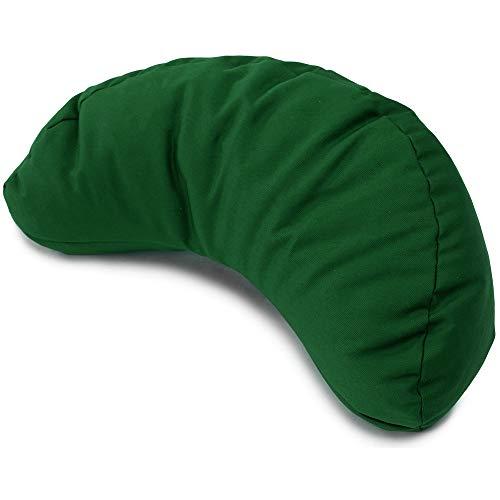 Meditationskissen grün Halbmond Bio-Dinkelspelz Yogakissen Mond