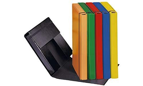 Pagna Heftbox Basic Colours A4 3 Innenklappen, mit Gummizugverschluss, schwarz