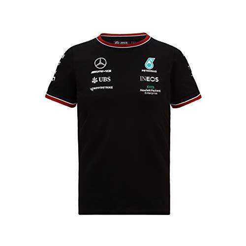 Mercedes-AMG Petronas - Merce Ufficiale di Formula 1 2021 Collezione - Bambini e Ragazzi - Driver Tee - Manica Corta - Nero - 128
