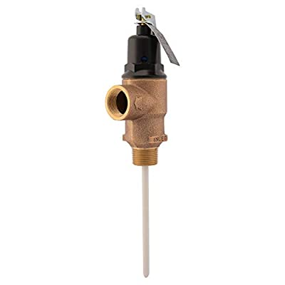 Cash Acme 16934-0150 Temp Pressure Relief Valve, Brass from Cash Acme