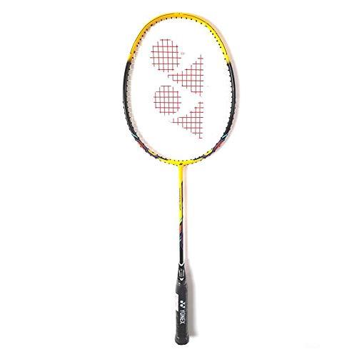 YONEX Nanoray 10F Hi-Flex Badmintonschläger, vorbespannt, Schwarz/Gelb