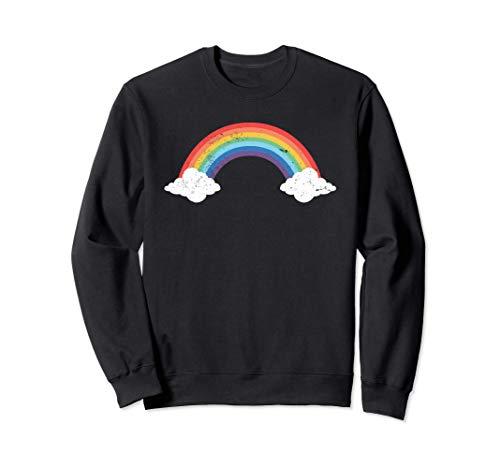 Regalo estilo arco iris vintage retro de los años 80 Sudadera